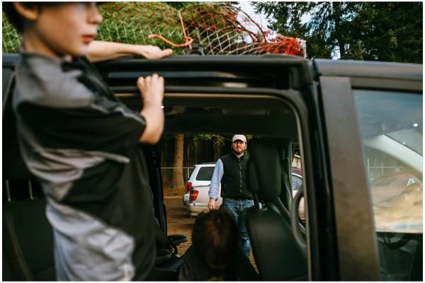 The Uhlers hunt and kill a Christmas tree