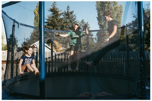 Tacoma Family Documentary Photographer } Trampolines, Unicycles, Pizza, & Bunny