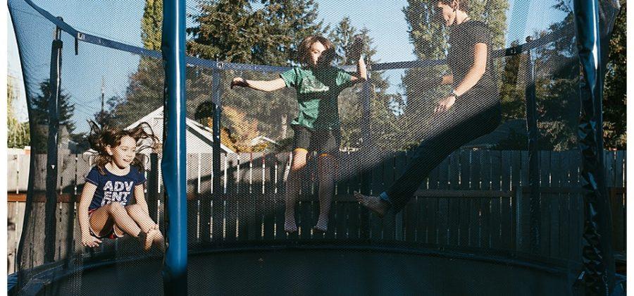 Tacoma Family Documentary Photographer } Trampolines, Unicycles, Pizza, & Bunny